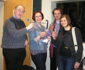 Alex, Nicky, Ed and Katie: CHEERS!