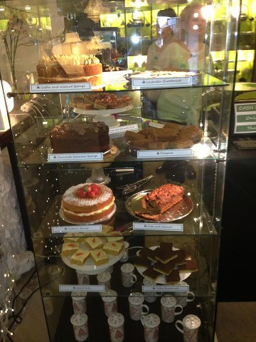 Cakes. Did I mention you can get fabulous cake here? Photo courtesy of Lizzie Lamb, with thanks.