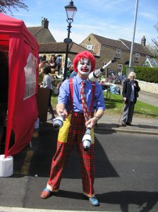 Juggling clown ~ it's a 'yes' from me!