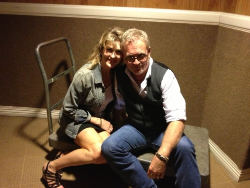 Jo-Leah and Cameron backstage at Nashville's Ryman Auditorium, at the recent Honor Thy Song benefit. Photo courtesy of Cameron Tilbury, with thanks.