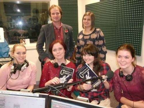 The Party Team: Ed Wellman and Katie Grimason; and Holly Cox, myself, Emily and Rosie. We rocked it!