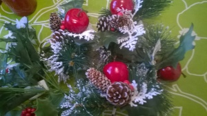 Ingredient 2: New cones, apples, and snowy pine needles...